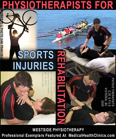 Photo of physiotherapists doing actual treatment for lower and upper back probems of another physical therapist who is a competitive rower